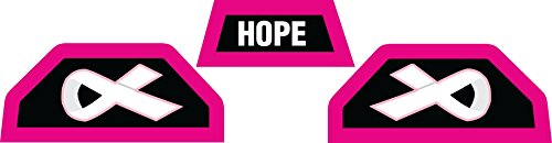 Stickers for Under Armour Visor, Hard Hitting No Quitting (Breast Cancer - Black & Hot Pink)