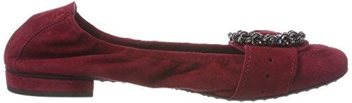 Kennel para Black Mujer Schmenger Cerrada con Rojo Rubino und Punta 484 Bailarinas Malu Pr0Px1U