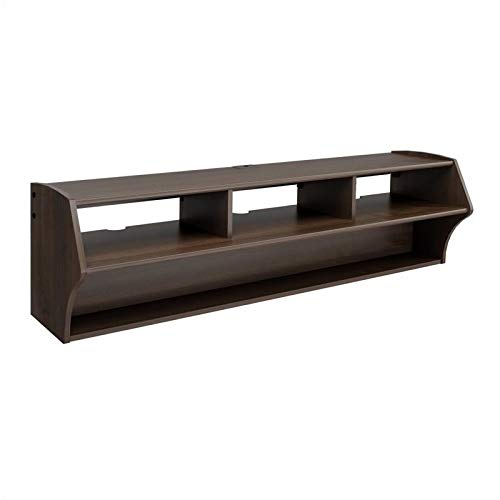 Hawthorne Collections 58 Floating TV Stand in Espresso