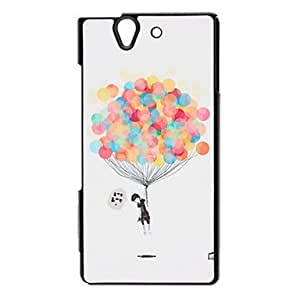 Boy and Balloon Pattern Shimmering Powder Hard Case for SONY L36H(Xperia Z)