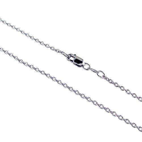 Argent sterling Collier de Chaîne de câble 61cm