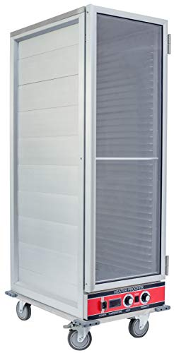 Insulated Holding Cabinet - Chef's Exclusive CE800 Heater Proofer Holding Cabinet Non-Insulated Clear Door 1500 Watts Commercial Full Size Holds (35) 18in x 26in Sheet Pans Forced Air With Casters For Mobile Use, 22.8in Wide