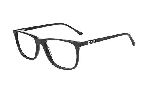 Edison & King reading glasses - striking, clean-lined and Straightfoward (black, 2.00 dpt) ()