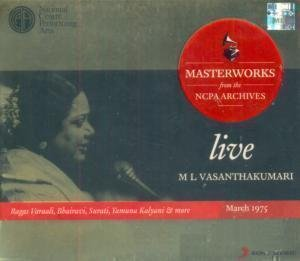 M L Vasanthakumari - Live - Masterworks from the NCPA Archives, March 1975 (2-CD Set / Carnatic Vocal)