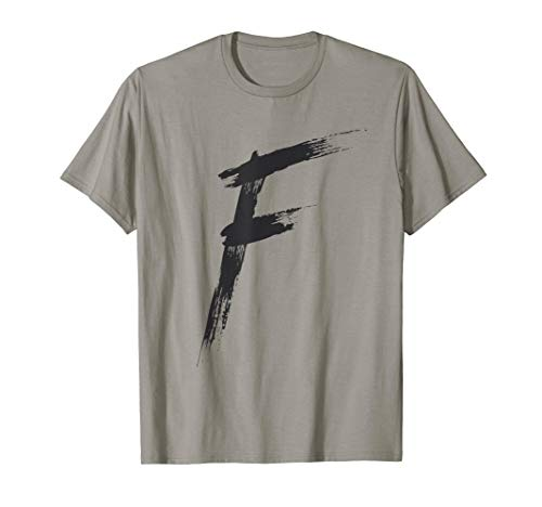 Letter F Alphabet Initial of Names and Words Spelling Shirt