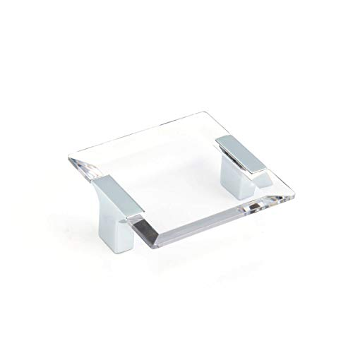 Schaub Positano Collection 2-1/2 in. (64mm) Acrylic Pull, Polished Chrome/Clear - 315-26 CL