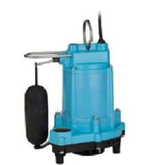 Little Giant 506807 6EC Series 1/3 hp Integral Snap-Action Float Plastic Base Sump Pump