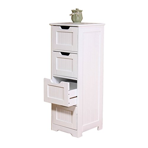 Cabinets Bathroom four-tier locker living room storage cabinet corner cabinet corner cabinet multi-function storage cabinet with drawer (Color : White, Size : 303082.7cm)