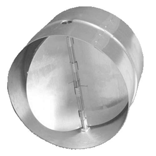 canal de salida de aire Conector de 100 mm de di/ámetro para tubo de ventilaci/ón con v/álvula antirretorno de acero galvanizado. tubo de escape