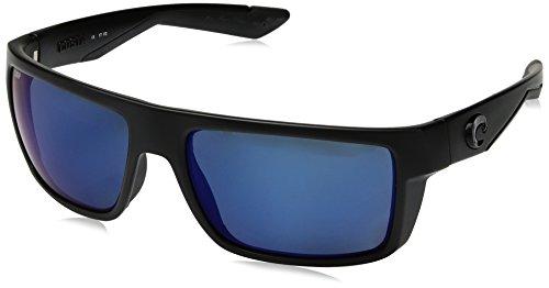Costa Del Mar Motu Sunglasses, Blackout, Blue Mirror 580 Plastic ()