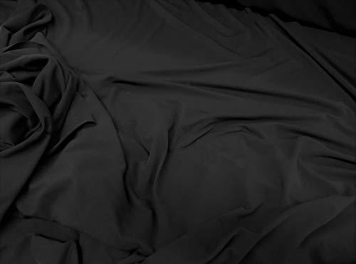 Discount Fabric Lycra Spandex Dryline Wicking Performance Stretch Black DT100