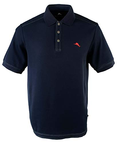 Tommy Bahama Men's The Emfielder Polo Shirt Blue Note Medium (Polo Men Tommy For)