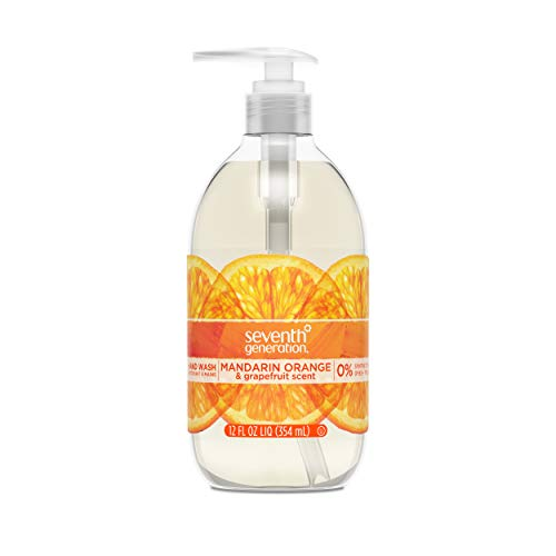 Seventh Generation Hand Wash Soap, Mandarin Orange & Grapefruit , 12 Fl Oz, (Pack of 8) (Jr Watkins Aloe And Green Tea Shampoo)