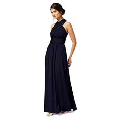 Debut Womens Dark Blue Multiway Evening Dress: Debut: Amazon.co.uk: Clothing