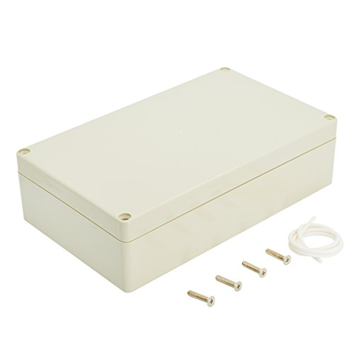 LeMotech Waterproof Dustproof IP65 ABS Plastic Junction Box Universal Electric Project Enclosure Pale Gray 7.9 x 4.7 x 2.2 inch(200 x 120 x 56 mm) ()