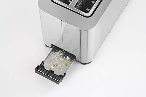 Caso Design Four Slice Wide Slot Toaster, Stainless Steel, 11926, small