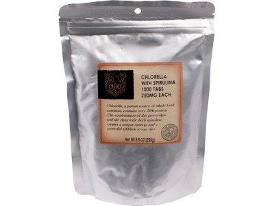 Ojio: 2000 premières Chlorella / spiruline comprimés 250mg