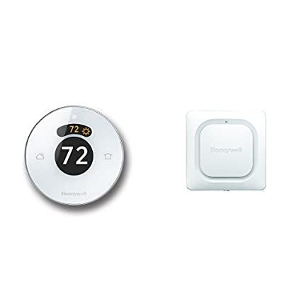 Lyric Round WiFi Thermostat and Lyric WiFi Water Leak and Freeze Detector Bundle
