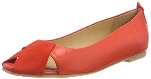 KMB Women's Crespu Closed Toe Ballet Flats Orange (Cinamon 19) Cj3bh3PlBz