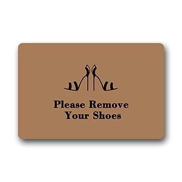 Clean Machine Doormat Please Remove Your Shoes Sign Door Mat