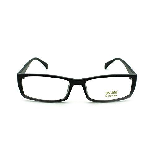 Unisex Snug Fit Small Classic Narrow Rectangular Clear Lens Optical Eye Glasses - Nerd Guys Clear Glasses