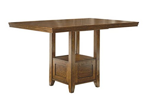 Ashley Furniture Signature Design - Ralene Counter Height Dining Room Table - Burnished - Medium Brown (Breakfast Height Counter)