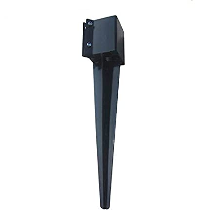 MTB Fence Post Anchor Ground Spike Metal Black Powder Coated 32x4x4, Pack of 4 MTB Supply Inc