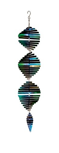 In the Breeze Cool Shimmer Helix Spinner with Hang-It S Hook Metal Hanging Décor
