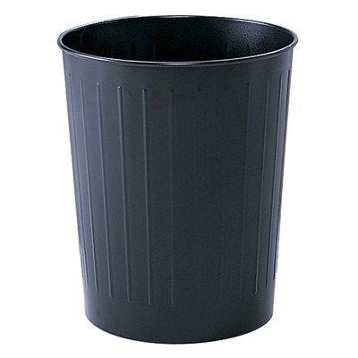 5.88 Gallon Round Wastebasket [Set of 6] Color: Black