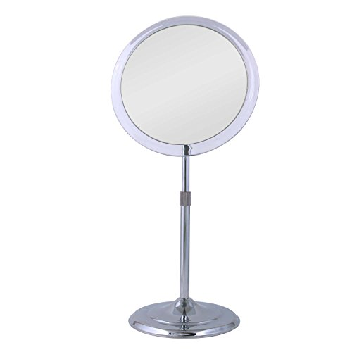 Zadro Single Sided Pedestal Vanity Mirror, Chrome Finish