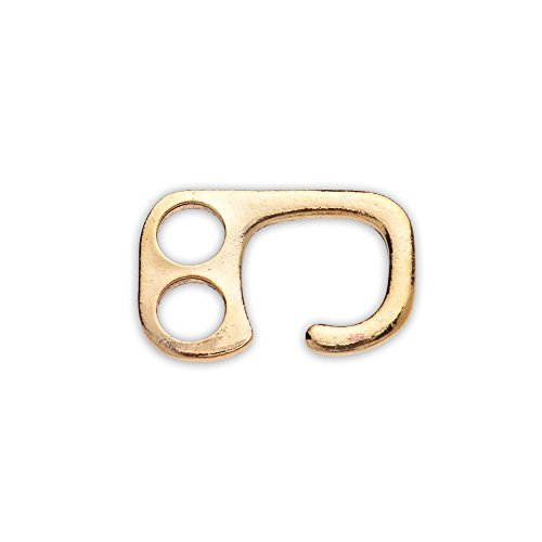 20pcs 26x17mm zinc alloy E Hook Clasp,Metal clasp,Leather Bracelet Findings,18k gold