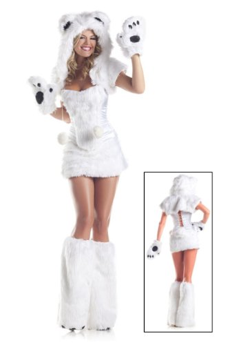 [Be Wicked Costumes Women's Polar AR Costume, White, Small/Medium] (Bear Halloween Costume Women)