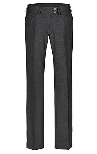 Greiff �?pantalón de traje para mujer, calidad prémium, corte recto –Style 1352 gris 48