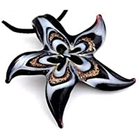 Sumanee Hot Stylish Womens Starfish lampwork art glass beaded pendant necklace Y