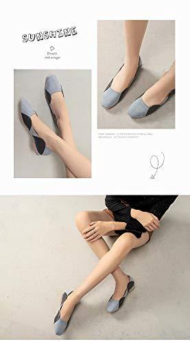 Negro A Europa América Cuadrada Zapatos Juego Temperamento Planos Y Cabeza Mocasines Cómodos Estudiantes Color De Moda 6cHqWgZgB