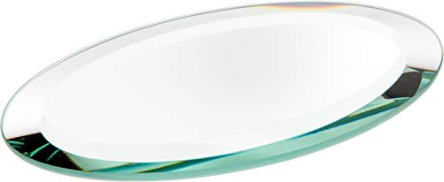 Oval Mirror Base - Plymor Oval 5mm Beveled Glass Mirror, 3 inch x 5 inch