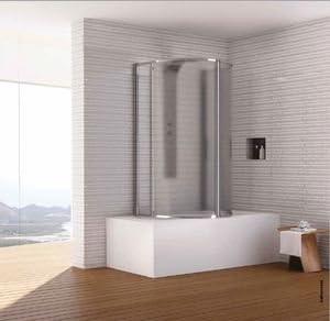 Mampara de baño Circular de puertas pivotantes Dora: Amazon.es: Bricolaje y herramientas