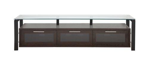 PLATEAU DECOR 71 EB Wood and Glass TV Stand, 71-Inch, Espresso - Tv Stand Metal Plateau