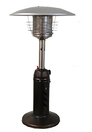 SUNHEAT Traditional Round Design Tabletop Patio Heater-Golden Hammered