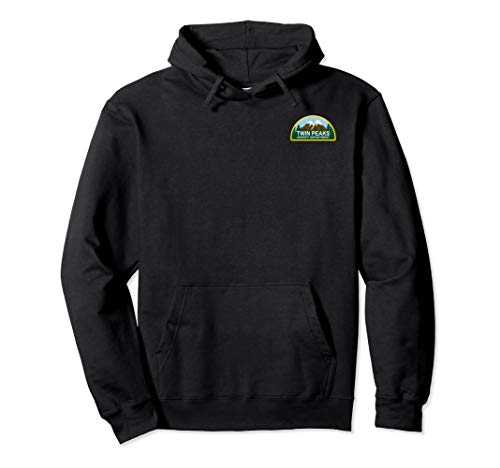 (Twin Peaks Sheriff Department Faux Law Patch Hoodie)