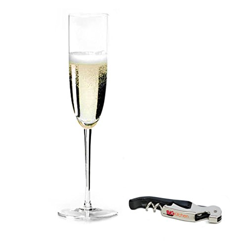 (Riedel Sommeliers Leaded Crystal Champagne Glass with Bonus BigKitchen Waiter's Corkscrew)