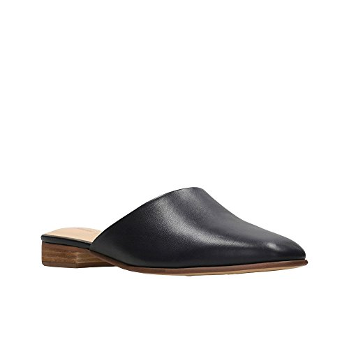 Clarks Womens Black Leather 'Pure Blush' Mules QXkhklpg6B
