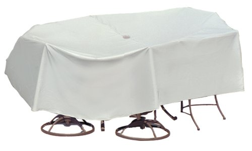Rectangular Bar Height Umbrella Table (Protective Covers Weatherproof Patio Table and Highback Chair Set Cover, 60 Inch x 66 Inch, Oval/Rectangle Bar Table,)