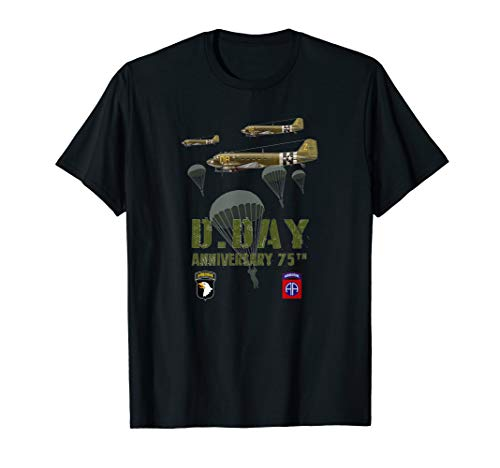 75 th anniversary d-day WWII T-shirt 4