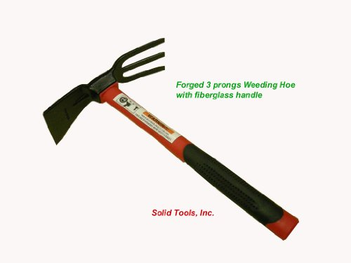 Adze Hoe with Fork, Dual Headed Weeding Tool by Forgecraft USA (Image #4)