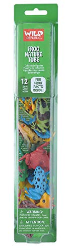 Wild Republic Frog Nature Tube, Amphibian Figures, Frog Toys, Educational Toys for Kids, -