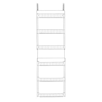 Over The Door Storage Rack Organizer Kitchen Pantry Basket Spice 6 Shelf Can Be Mounted