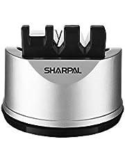SHARPAL 191H Zak keuken koksmes schaar slijper voor rechte en gekartelde messen, 3-traps mes slijpen tool helpt reparatie en herstel messen