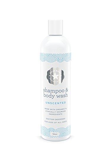 Baja Baby | Organic Unscented Baby Shampoo and Body Wash | EWG Verified | 16oz | Vegan | Gluten-free | PETA-approved | Safe Shampoo for Cradle Cap | All-Natural (Hemp Gel Shampoo)